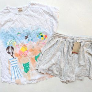 Zara Soft Collection Girls Tee Skort 13-14